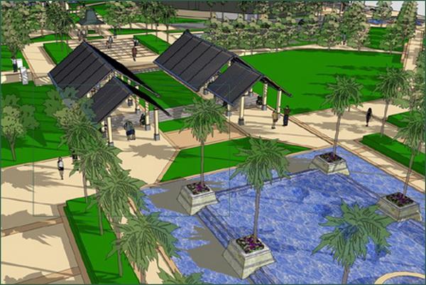 景观风格:泛东南亚(巴厘岛风情) 設計說明: 项目位于广东佛山市顺德区勒流镇勒流街道龙洲商住区4号地块,总用地面积2.5万平方米,依靠育贤路,是勒流镇未来重点发展的中心城区。颐澳公园印象由8栋15层建筑组成,共约468户,项目立面为现代风格,线条简洁流畅。项目拥揽8000平方米市政公园,社区园林以兰卡威风情园林为主,独有350平方米中央园林泳池,整个社区园林与市政园林风格统一,有机地融为一体,是真正意义和形式上的公园物业。 东南亚园林风格:热带风格里最富有风情感的就算是东南亚风格了,这种风格是一种具有地